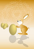 Gold rabbit Royalty Free Stock Photos