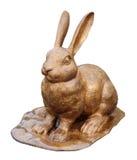 Gold rabbit Royalty Free Stock Photo