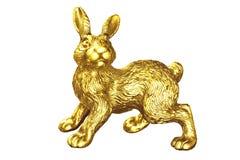 Gold rabbit Stock Photo
