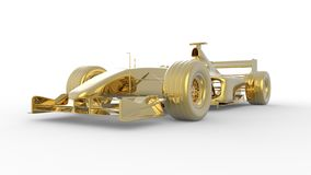Gold race car. In the Formula 1 style Royalty Free Stock Photography