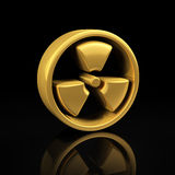 Gold radioactive on black Royalty Free Stock Photo