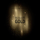 Gold rain frame. Abstract vector stippling gold frame Gold shining background. Glitter template royalty free illustration