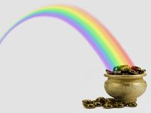 Gold in Rainbow Stock Image