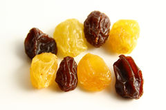 Gold raisin vs Black dry raisin Royalty Free Stock Images