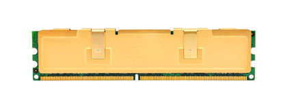 Gold ram. On a white background Stock Photo