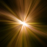 Gold rays. Rays abstract background Stock Photography