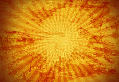 Gold Rays Grunge Background. A gold background of a grunge background with light rays emanating from center royalty free illustration