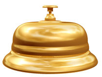 Gold reception bell Royalty Free Stock Photos