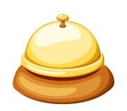 Gold reception bell. Vector illustration. royalty free illustration