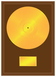 Gold record stock images