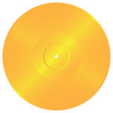 Gold Record Royalty Free Stock Image