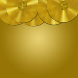 Gold record border Royalty Free Stock Images