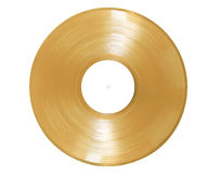 Gold Record on White Stock Image