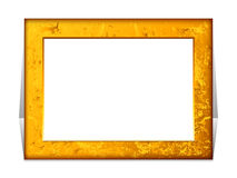 Gold rectangle frame Stock Photo