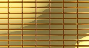 Gold rectangles background Stock Images