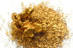 Gold recycling Royalty Free Stock Image