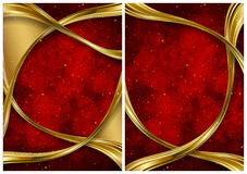 Gold and red abstract backgrounds vector illustration