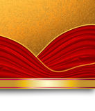 Gold and red background. Abstract gold and red background composition Royalty Free Stock Image