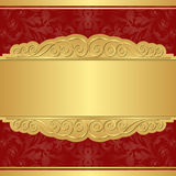 Gold and red background. With copy space Royalty Free Stock Photos