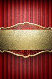 Gold on red background. Made in 3D Stock Photography