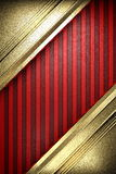 Gold on red background. Made in 3D Stock Photo