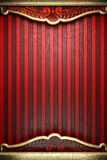 Gold on red background. Made in 3D Royalty Free Stock Photo