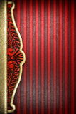 Gold on red background. Made in 3D Royalty Free Stock Images