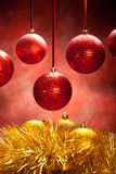 Gold and red baubles Royalty Free Stock Photo