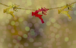 Gold and red christma reindeer isolated Stock Photo