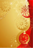 Gold and red christmas Royalty Free Stock Image