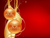 Gold_and_red_christmas Obraz Royalty Free