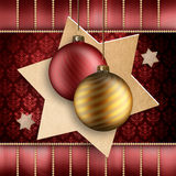 Gold and red christmas baubles Royalty Free Stock Photography