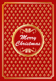 Gold and red Christmas design Stock Image