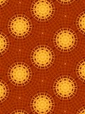 Gold and Red Circle Patterns Stock Image