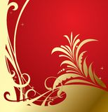 Gold-red classic background Royalty Free Stock Photography