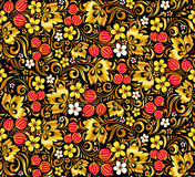 Gold and red colors vector seamless pattern Royalty Free Stock Photo