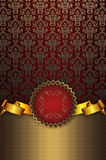 Gold and red decorative background. Stock Photos