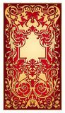 Gold and red eastern ornament  vector Stock Photography
