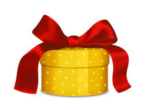 Gold and red gift Royalty Free Stock Photography