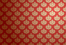 Gold and red glamour pattern Royalty Free Stock Images