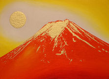 Gold and Red Mt.Fuji,Japan Stock Photography