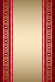 Gold and red ornamental background - vector Royalty Free Stock Images