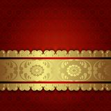 Gold on red. Royalty Free Stock Images