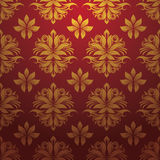 Gold red pattern vector Royalty Free Stock Image