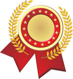 Gold red seal Stock Photography