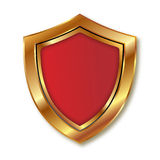 Gold and red shield Stock Images