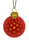 Gold and Red Snowflake Ornament Royalty Free Stock Photography