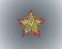 Gold Red Star Stock Photos