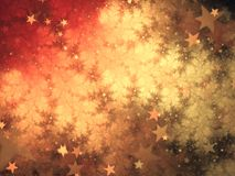 Gold and red starry fractal pattern. Digital artwork for creative graphic design Stock Image