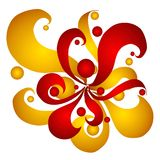 Gold Red Swirls and Circles Royalty Free Stock Photography